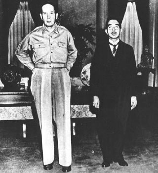 Photograph of General MacArthur and Emperor Hirohito