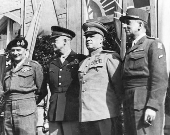 Photograph of the Commanders of the Four Allied Powers
